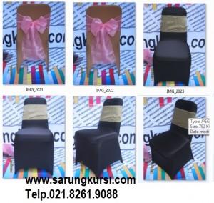 Cover kursi warna hitam